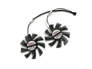 2Pcs/set Computer Video Card Cooler Fan Replace For HIS 7950 IceQ X2 Boost Clock 3GB GDDR5 Graphics Card