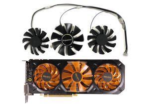 3pcs/Set Video GPU Cooler Fan For Dataland Powercolor DEVIL R9 270X R9-370X Graphics Card As Replacement