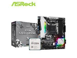 Asrock B450M B450 Motherboard set with Ryzen 5 3600 AM4 CPU Processor