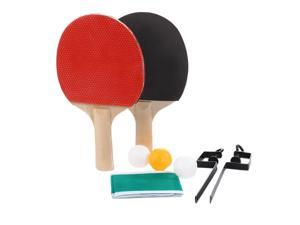 Ping Pong Post Net Rack Paddles Quality Table Tennis Rackets Set Ping Pong Train Adjustable Net Rack Paddle with 3 Bal
