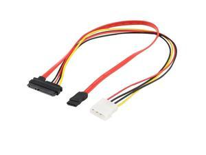 7+15 22Pin Serial ATA SATA to IDE 4P Hard Drive Power Adapter Cable