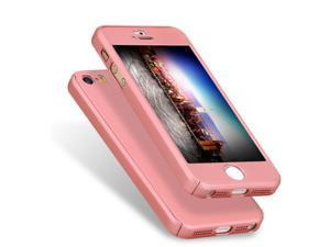 Luxury Soft TPU 360 Full Cover Cases For iPhone 5S/SE - Pink