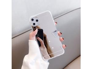 Luxury Mirror Flash Phone Case TPU Soft Protective Back Case Cover For Apple iPhone XR - Silver