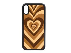 Soft Silicone Stylish Love Coffee Heart Design Back Phone Case Cover For Apple iPhone XR
