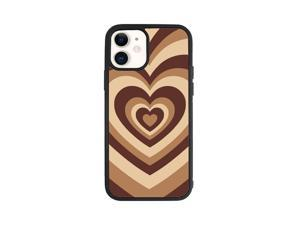 Soft Silicone Stylish Love Coffee Heart Design Back Phone Case Cover For Apple iPhone 12 Mini