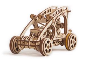 DIY build your own dune buggy.  3D wood mechanical puzzle.  All materials included in the kit.   Made of birch, assembled like a puzzle with no glue and rubber band powered.  Wind up and watch it go.