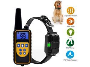 Dog Training Collar - Rechargeable Remote Dog Shock Collars for Small, Medium, Large Dogs with 3 Corrective Remote Training Modes, Shock, Vibration, Beep, 100% Waterproof E-Collar Trainer