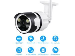 Waterof WiFi IP Camera 1080P 720P Two Way Audio Wireless Security Surveillance P2P Bullet CCTV Night Vision Outdoor Camera