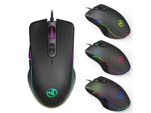 TROPRO RGB Gaming Mouse, 6400 dpi, Ergonomic Hand Grips, RGB Backlit Optical Wired Gaming Mouse  7 Programmable Buttons