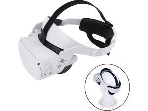 Oculus Quest 2 Head Strap, Adjustable Elite Strap for Oculus Quest 2, Replacement Oculus Quest 2 Head Strap for Enhanced Support and Reduce Head Pressure Comfortable Touch in VR