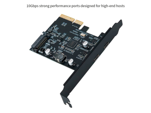 TROPRO PCI-Express 4X to USB 3.1 Gen 2 (10 Gbps) 2-Port Type C Expansion Card Asmedia Chipset for Windows 7/8/10/Linux/MAC OS 10.14 – PCI Express USB C Card(2X Type-C Port)