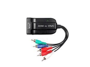 Wiistar Scaler HDMI to RGB Component 5 RCA YPbPr Video + R/L 1080P Audio Converter Adapter TV PC