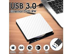 COOSNUG External DVD Drive USB 3.0  RW CD Writer Slim Carbon Grain Drive Burner Reader Player For PC Laptop Optical Drive