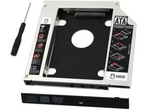 COOSNUG SATA Hard Drive Caddy, Universal 9.5 mm SATA to SATA 2nd SSD HDD Hard Drive Caddy Adapter Tray Enclosures for DELL HP Lenovo ThinkPad ACER Gateway ASUS Sony Samsung MSI Laptop