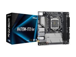 ASRock H470M-ITX/AC LGA 1200 Intel H470 SATA 6Gb/s Mini ITX Intel Motherboard