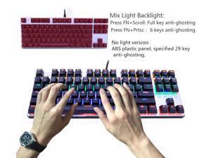 mokgezltd Mechanical Keyboard 87 keys Blue Switch Gaming Keyboards for Tablet Desktop sticker