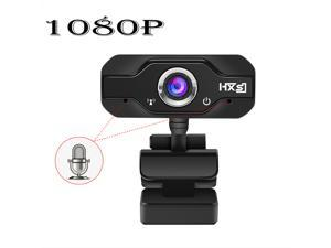 HD 1080P Webcam Built-in Dual Mics Smart 1080P Web Camera 30 fps Fixed Focus High-end Video Calling USB Pro Stream Camera for Desktop Laptops PC  For OS Windows10/8 Wide Angle Lens Game Cam