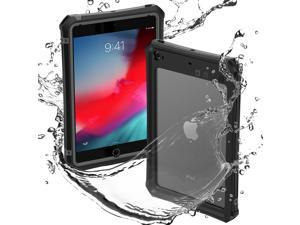 ShellBox Case iPad Mini 4/5 Waterproof Case, Protective Full Body Shockproof Dustproof Cover Case with Adjustable Tablet Stand Built-in Screen Protector for iPad Mini 5/iPad Mini 4 Case