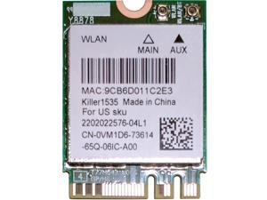 Wireless Adapter Card for Wlan 2-in-1 Killer 1535 802.11 A/b/g/n/ac + Bluetooth 4.1 ; M.2 2230 Wifi  Network 802.11ac 867mbps