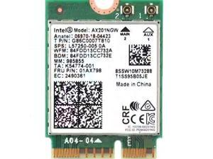 Adapter for Intel AX201NGW ax201 Wi-Fi 6 Dual Band M.2 WiFi Card 802.11ax/ac BT5.0 2400Mbps