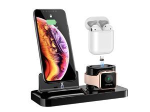 3 In 1 Magnetic Phone Charger For iPhone Wireless Charger For Apple Watch 4 AirPods Charging Dock Station