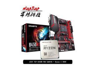AMD Ryzen 5 3600 R5 3600 CPU + GA B450M GAMING Motherboard Suit Socket AM4 CPU + Motherbaord Suit Socket AM4 Without cooler
