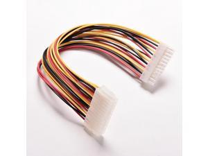 ATX 24 Pin Male to 24Pin Female Power Supply Extension Cable Internal PC PSU TW Power Lead Connector Wire 30CM 1PC,other