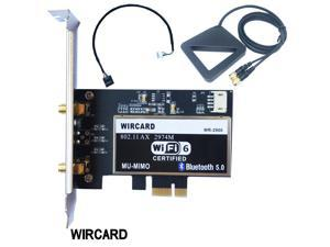 Dual Band 2400Mbps Wireless Wi-Fi Network Card Adapter With Wi-Fi 6 Intel AX200 NGW  With 802.11 ac/ax BT 5.0 For Desktop