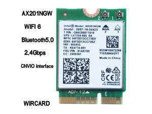 Wi-Fi 6 Intel AX201 Bluetooth 5.0 Dual Band 2.4G / 5G Wireless NGFF CNVi Wifi Card AX201NGW 802.11ac / ax 2.4Gbps
