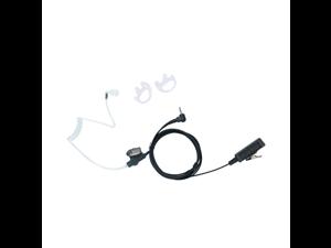 2 Wire Covert Acoustic Tube Earpiece Headset PTT MIC for 1 PIN 2.5MM Motorola Talkabout Walkie Talkie 2 Way Radio MD200TPR MH230R MR350R MS350R MT350R MG160A MH230TPR