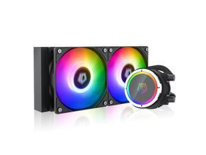 ID-COOLING ZOOMFLOW 240X ARGB CPU Water Cooler 5V Addressable RGB AIO Cooler 240mm CPU Liquid Cooler 2X120mm RGB Fan, Intel 115X/2066, AMD TR4/AM4