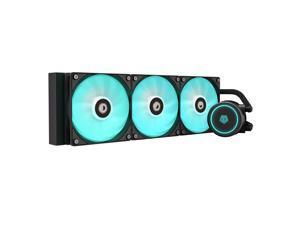 ID-COOLING AURAFLOW X 360 CPU Water Cooler RGB AIO Cooler 360mm CPU Liquid Cooler 3x120mm RGB Fan, Intel 115X/2066, AMD TR4/AM4