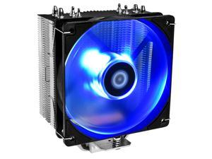 ID-COOLING SE-224-XT-B CPU Cooler AM4 CPU Cooler Blue LED 4 Heatpipes CPU Air Cooler 120mm PWM Fan Air Cooling for Intel/AMD
