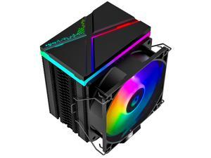 ID-COOLING SE-914-XT-ARGB CPU Cooler AM4 131mm Height CPU Cooler 5V Addressable RGB Cooler 4 Heatpipes CPU Air Cooler 92mm PWM Fan, Intel/AMD