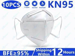 KN95 Non-Disposable Protective Mask, Anti Covid-19 Virus KN95 Masks Surgical Face Mask Anti Flu Mask, Breathable, Dustproof, Nonwoven Fabrics, 5 Layers KN95 Protective Mask for Adult - 10 Pcs