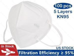 KN95 Face Mask, 5-layer Non-Disposable Face Mask Anti-bacteria, Oral And Nasal Hygiene, Breathable, Dustproof, Nonwoven Fabrics, Work Mask - 100PCS