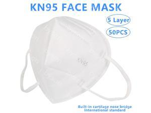 50pcs KN95 Mask FFP2 Non-Disposable 5 Layers Protective Mask Anti Covid-19 Virus Face Masks Surgical Mask Anti Dust Mask Breathable Dustproof Nonwoven Fabrics 5 Layers Protective Mask