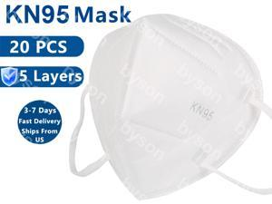 20PCS KN95 Mask, 5-layer Non-Disposable Face Mask, Oral And Nasal Hygiene, Breathable, Dustproof, Nonwoven Fabrics, Work Mask