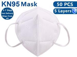 50pcs Civil Mask Face Masks, 5 layer Dust Earloop Face Masks for Personal Protective Respirator Reusable, Work Mask for Adult & Kids