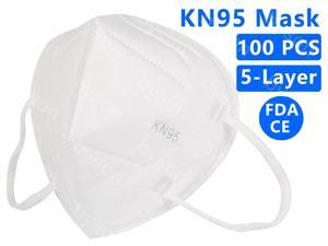 100PCS KN95 Mask, 5 layer Anti Pollution Earloop Face Mask for Personal Protective Respirator Reusable, Non-Disposable N95 Face Mask Work Mask for Adult