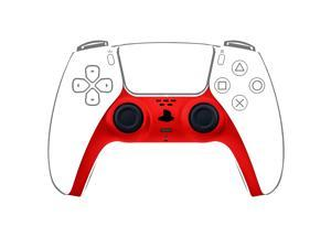 Decorative Strip for PS5 Dualsense Controller, Ackmioxy PS5 Accessories DIY PS5 Controller Replacement Shell Color Replacement Decoration Accessories for PS5 Controller Panel (Red)