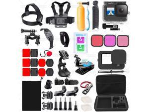 Ackmioxy 51 in 1 Accessories Kit for GoPro Hero 9 Black with Waterproof Housing Case Travel Case Screen Protector Filter licone Sleeve Accessory Set for GoPro Hero 9 Black Camera Accessories