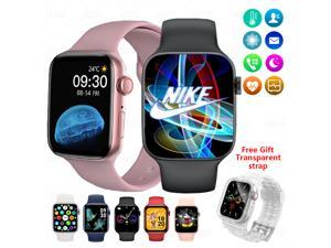 """Newest HW22 Smartwatch Full Screen 1.75 """"44MM Bluetooth Smart Watch, Ackmioxy  Fitness Tracker for Android & iPhone with Call Blood Oxygen Monitor Waterproof IP67 Music Player Upgraded Version (White)"""