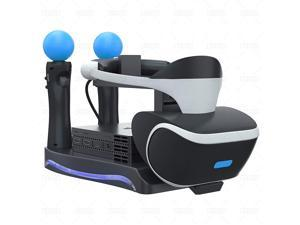 Ackmioxy PSVR Stand - Charge, Showcase, and Display Your PS4 VR Headset and Processor - Compatible with Playstation 4 PSVR - Showcase and Move Controller Charging Station