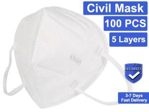 KN95 Mask Non-Disposable Protective KN95 Mask for Adult & Kids Anti dust N95 Mask KN95 Mask Anti Flu Mask, Breathable, Dustproof, Nonwoven Fabrics,5 Layers Protective Face Mask - 100 Pcs