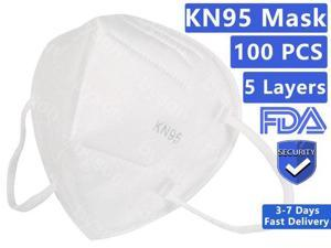 KN95 Face Mask FFP2 Non-Disposable 5 Layers Protective KN95 Mask Face Masks N95 Mask Anti Dust KN95 Mask Breathable Dustproof Nonwoven Fabrics 5 Layers Protective Mask for Adult & Kids - 100pcs
