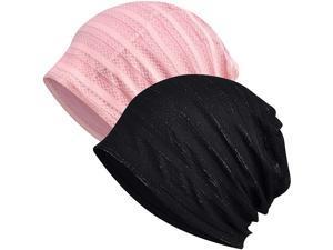 Kayier 2 Pack Skullies Beanies Thin Bonnet Cap Autumn Casual Beanies Hat