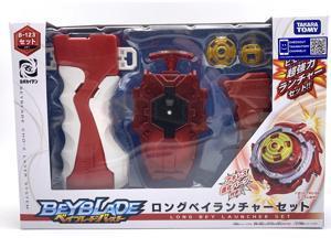 Ready Stock Original Takara Tomy Beyblade BURST B-123 Long Bey Launcher Set for Children's Day Toys