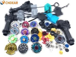 Beyblade Metal Fusion 4D Spinner Top (12 Spin Top 6 Launchers 3 Grips More than 30 Spare Parts ) Kids Toys