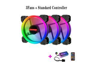 3pcs 120mm PC Computer Case Fan Cooling Cooler 6PIN Adjustable RGB Led 12V Mute Ventilador PWM RGB Case Fans Adjust Speed Aura Sync